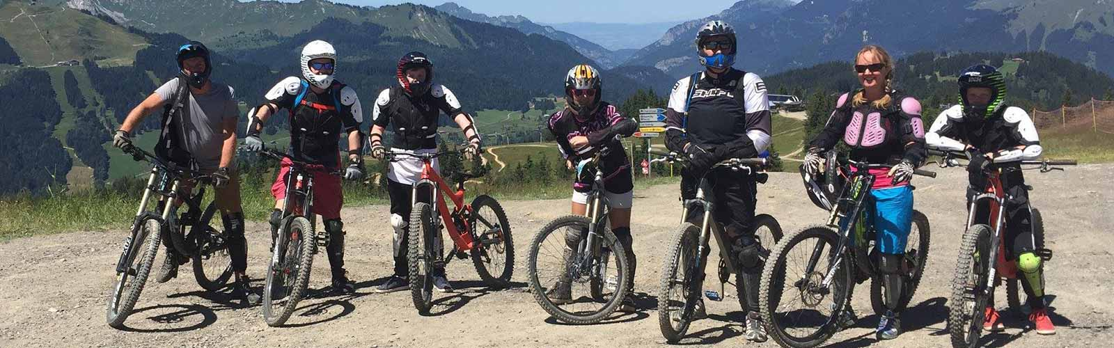 Mountain biking in the Morzine mountains.